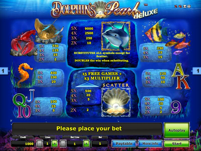 Gaminator Dolphins Pearl